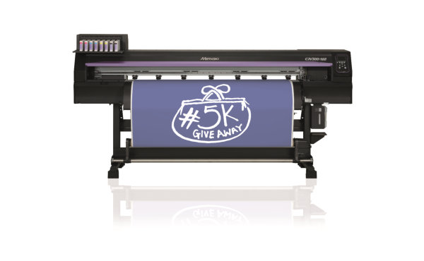 The Mimaki CJV300 offers a state of the art integrated print and cut solution