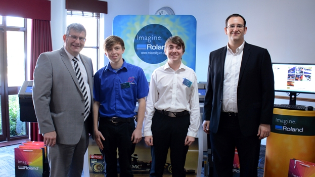 Alongside Roland DG's apprentices, Kai Perry, Technical Support Supervisor, and Brett Newman, MD, attended the awards