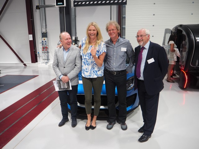 David Wright of Coventry University and Jodie Kidd alongside Ian Callum ...