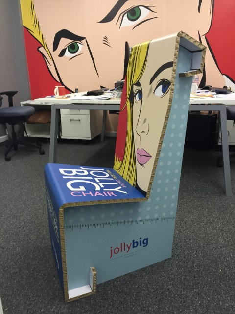 A Re-board chair created by JollyBig on the VUTEk QS2000