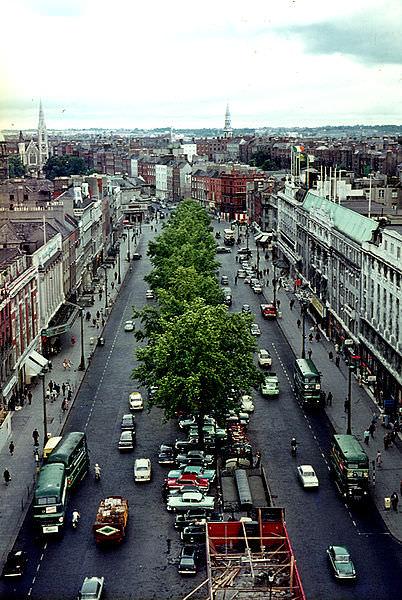 O'Connell St., Dublin from_Nelson's Pillar, 1964