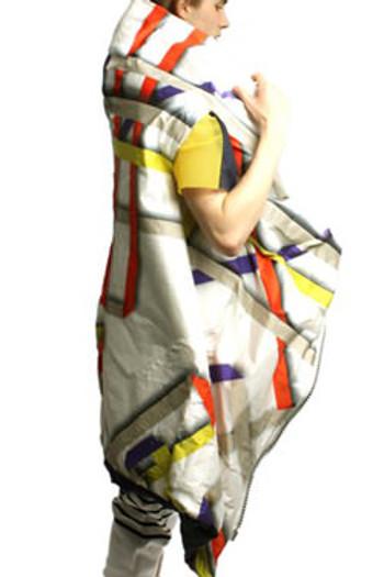 Gerard-Gunning--Digital-Bonded-Coat,-Oversized-Zip
