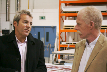 Mal McGowan, on the left, talking to Martin O'Driscoll from DPNlive
